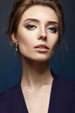 Портрет девушки очарования моды красоты Стоковое Фото