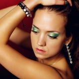 Портрет девушки очарования. Стоковое Изображение RF