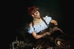 портрет девушки Пар-панка Стоковая Фотография RF