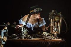 портрет девушки Пар-панка Стоковые Фотографии RF
