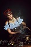портрет девушки Пар-панка Стоковое фото RF