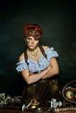 портрет девушки Пар-панка Стоковые Изображения RF