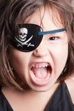 Портрет девушки пирата красивой азиатской девушки маленькой стоковое фото rf