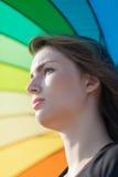 Портрет девушки под зонтиком Стоковое Изображение RF