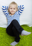 Портрет девушки ребенк Стоковое Фото
