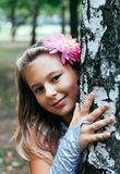 Портрет девушки снаружи Стоковое Фото