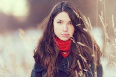 Портрет девушки снаружи Стоковые Фото