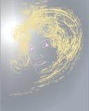портрет девушки солнечный Стоковая Фотография
