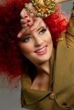 Красные волосы. Стоковое Фото