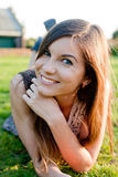 портрет девушки счастливый Стоковое Фото