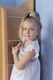 Портрет девушки с голубыми глазами Стоковые Изображения RF