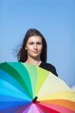 Портрет девушки с зонтиком Стоковое фото RF
