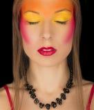 Портрет девушки с ярким творческим составом Стоковые Фотографии RF