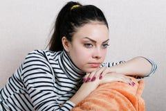 портрет девушки унылый Стоковые Фото