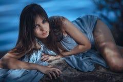 Портрет девушки фотомодели искусства Стоковое фото RF