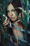 Портрет девушки фотомодели искусства Стоковая Фотография RF