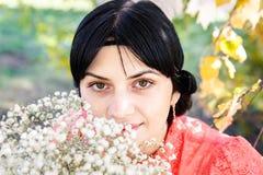 портрет девушки цветков Стоковое фото RF