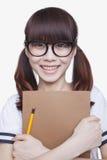 Портрет девушки школы Стоковая Фотография