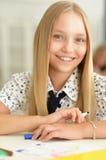 Портрет девушки школы Стоковое Изображение RF