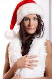 Портрет девушки santa Стоковое фото RF