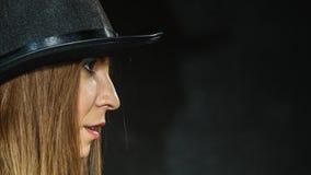 Портрет девушки Steampunk ретро Стоковое фото RF