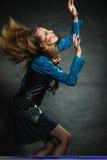 Портрет девушки Steampunk ретро Стоковые Фото