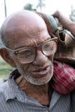 Портрет лейбориста в Kumrokhali, Индии стоковое фото rf
