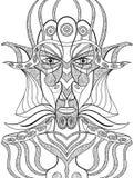Портрет демона в абстрактном стиле Стоковые Фото