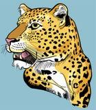 Портрет леопарда иллюстрация вектора