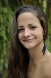 Портрет естественной девушки красотки Стоковое Изображение RF