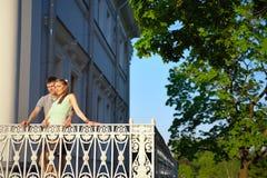 Портрет детеныша в парах влюбленности в парке Стоковые Фото