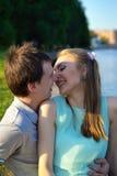 Портрет детеныша в парах влюбленности на обваловке Стоковое Изображение RF