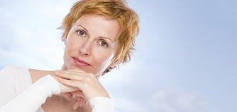 Портрет 40 лет женщины Стоковая Фотография RF
