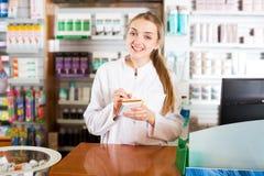 Портрет женского аптекаря Стоковое Изображение RF