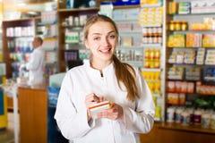 Портрет женского аптекаря Стоковая Фотография