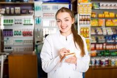 Портрет женского аптекаря Стоковое Изображение