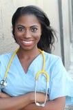 Портрет женского доктора Standing Снаружи Больницы Стоковое фото RF