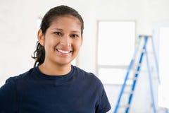 Портрет женского построителя стоковое изображение rf