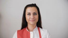 Портрет женского работник службы рисепшн акции видеоматериалы