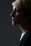 Портрет женщины без состава Стоковое Фото
