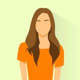 Портрет женщины воплощения значка профиля женский вскользь Стоковые Фотографии RF