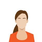 Портрет женщины воплощения значка профиля женский Стоковое Изображение
