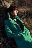 Портрет женщины в погоде ½ ию ½ Ð  ÐΜÐ ¾ Ñ ÑƒÑŽ Ð ½ ½ РуÐ'еР' Ñ Ñ Стоковое Изображение RF