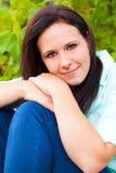 Портрет женщины в природе Стоковое Фото