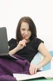 портрет женщины и смеха Стоковая Фотография RF