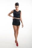 Портрет женщины моды в современном платье Стоковое Изображение RF