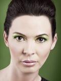 Портрет женщины моды стоковое изображение