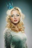 Крона princess женщины нося Стоковая Фотография