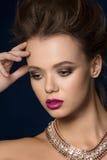 Портрет женщины очарования моды красоты Стоковое Изображение