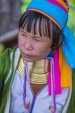 Портрет женщины племени Kayan в Мьянме Стоковое Фото